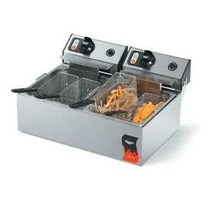 Vollrath 40707 Cayenne Dual 120v Countertop Fryer