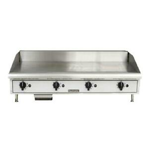 Toastmaster Tmgt48 48 Thermostatic Countertop Gas Griddle Flat Top Grill
