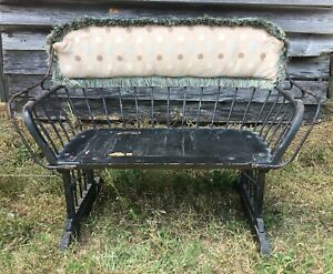 Vintage Horse Carriage Bench Seat Buggy Wagon Sleigh Curved Back Pickup In Sc