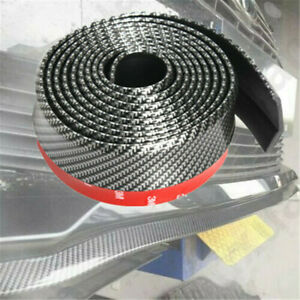 2 5m Universal Carbon Fiber Car Body Protector Front Lip Splitter Trim Bumper