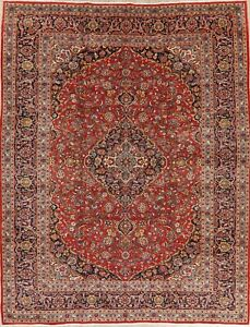 Traditional Persian Wool Area Rug 10x13 Floral Oriental Hand Knotted Red Carpet