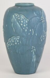 ROOKWOOD BLUE PRODUCTION VASE 9.5quot; TALL DATED 1947