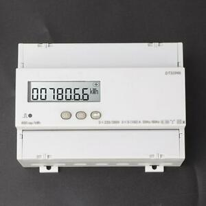 Dts1946 Three phase Four wire Lcd Rail mounted Digital Power Watt hour Meter