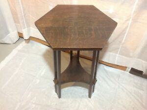 1910 Arts Crafts Mission Prairie Side Table
