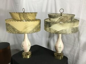 2 Vintage Mid Century Modern Retro Atomic 50 S Table Lamp 60 S Lamps