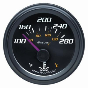 Equus 6262 2 Electrical Water Temperature Gauge Black