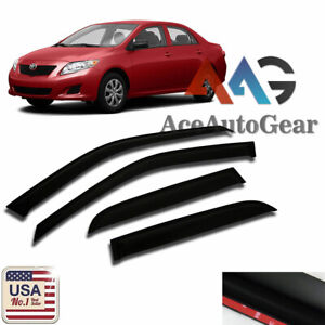 Aag Window Deflector Visor Vent Sun Guard For 2009 2013 Toyota Corolla 4 Door