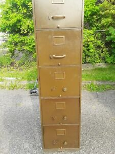 Steel Age Corry Mfg Corp Filing Cabinet 5 Drawer