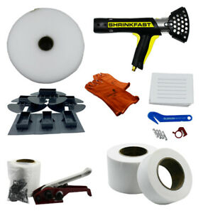 Single Large Boat Shrink Wrap Kit Heat Gun Tools Accessories Includes Shr