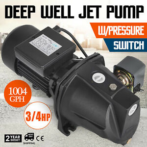 3 4 Hp Shallow Well Jet Pump W Pressure Switch 183 7 Ft 1 Inch Farms Black