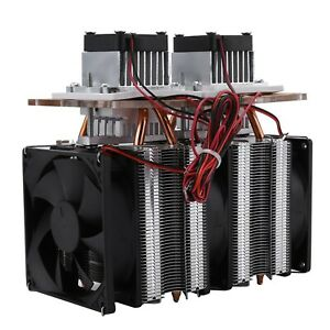 Dual core Semiconductor Refrigeration Thermoelectric Peltier Air Cooling Dehu