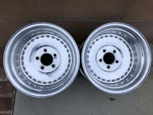 Vintage 15x10 Centerline Aluminum Drag Wheels Hot Rod Rat Rod Nhra Scta Chevy