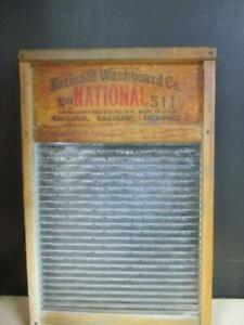 Vintage Atlantic Glass Washboard No 511 National Washboard Co