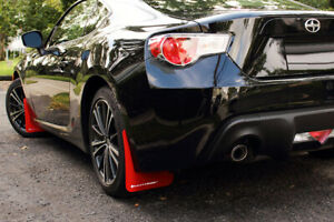 Rally Armor Ur Mud Flaps Red With White Logo 2013 For Subaru Brz