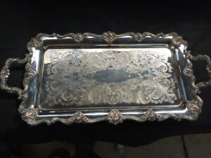 F B Rogers Silver Plate Oblong Tray