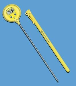 Lollipop Thermometer Traceable F c 50 To 300c 8 Inch Stem 1 0c Control