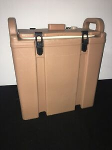 Cambro Tan Insulated Soup beverage Carrier 350lcd 3 3 8 Gallon Capacity 1c