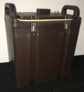 Cambro Brown Insulated Soup beverage Carrier 350lcd 3 3 8 Gallon Capacity 1m