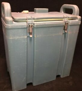 Cambro Blue Insulated Soup beverage Carrier 350lcd 3 3 8 Gallon Capacity 1t