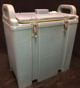 Cambro Blue Insulated Soup beverage Carrier 350lcd 3 3 8 Gallon Capacity 1v