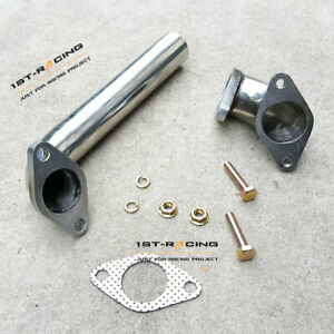 Fit For 35 38mm Waste Gate Actuator Racing Turbo Dump Pipe Elbow Adaptor 2pcs
