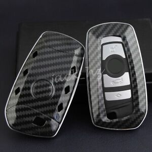 For Bmw X3 X4 1 2 3 4 5 6 7 Series Carbon Fiber Hard Key Shell Fob Case Cover