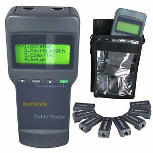 Digital Network Cable Tester Lan Rj45 5e 6e Coaxial Wire Checker Length Measure
