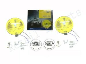 Pair Of Hella Comet 500 Yellow 12v H3 Driving Lamp For Jeep Trucks 4x4 em