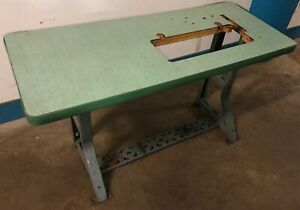 Vintage Singer Industrial Sewing Machine K leg Table And Top Our 2