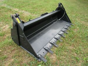 Cat 80 4 in 1 Multi Purpose Tooth Skid Steer Bucket Attachment Ship 199