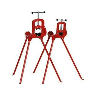 Pipe Table Vice Tripod Stand Bending Cutting 3 Grip Hvac wt2090