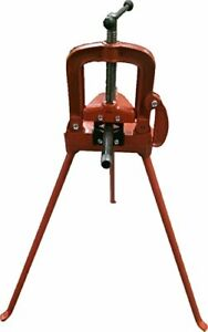Pipe Table Vice With Tripod Stand Bending Threading Cutting 2 Grip Hvac Wt2089