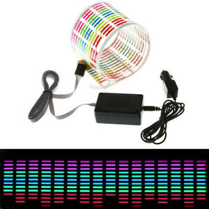 Car Rear Windshield Sticker Rgb Led Music Rhythm Light Sound Activated Sensor