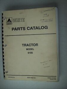 Original White Agco Tractor Model 6105 Parts Catalog Manual