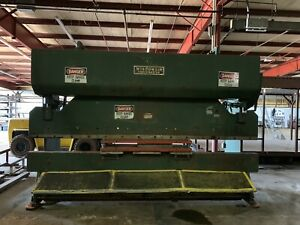 Wisconsin Forcemaster 150 Ton 14 Bed Metal Press Brake With Lots Of Dies