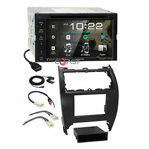 Kenwood Bluetooth Weblink Stereo 2din Dash Kit Harness For 2012 14 Toyota Camry