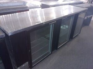 Beverage Air 3 Glass Door Back Bar Cooler Restaurant Equipment Bar Bakery Club