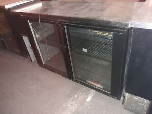 True 2 Glass Door Back Bar Cooler Restaurant Equipment Bar Bakery Club