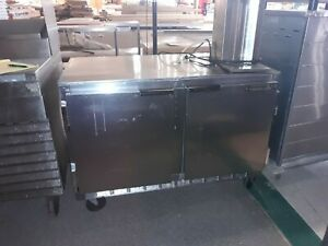 Beverage Air 2 Door Back Bar Cooler Stainless Steel Restaurant Equipment Bar
