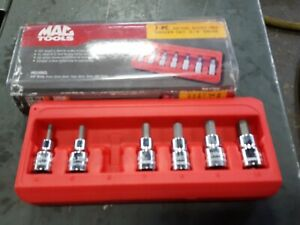 Mac Tools Sxmas7pt 3 8 Drive Metric Short Hex Driver Set Used
