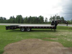 Pj Fs252 20 5 Gooseneck Trailer Goose Neck Hot Shot In Excellent Condition