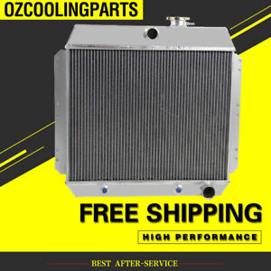 2 Row Aluminum Radiator For 1949 1954 1950 1952 1951 1953 Chevrolet Bel Air L6