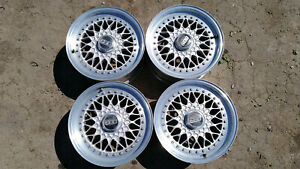 4 X Original Bbs Rs001 Rs 001 4x100 7jx15 Rims Bmw E30 E21 2002 Alpina Vw Golf