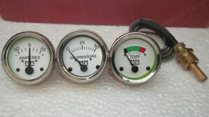 Minneapolis Moline Temp Oil Pr Ampere Gauge Set G r u z 335 400 445 500 600