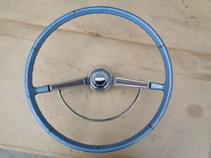 1965 1966 Chevy Caprice Steering Wheel W Horn Button Ring Emblem Original Gm
