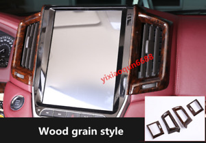 For Toyota Land Cruiser Lc200 2016 19 Wood Grain Side Air Vent Outlet Trim 4pcs