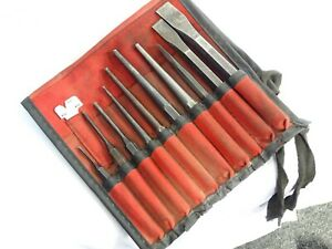 Snap on Tools No Ppc710bk 10 Piece Chisel Punch Set Gage Roll Pouch Bag Usa Ex