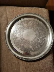 Vintage International Silver Company Silver Serving Tray