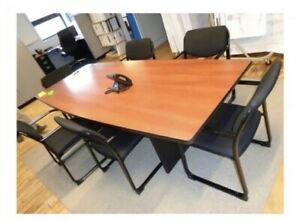 8 X 42 Conference Table Includes 6 Executive Chairs disassembled Easy Freight