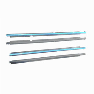 For Highlander 2011 2013 Window Molding Sill 4pc Seal Belt Chrome Weatherstrip